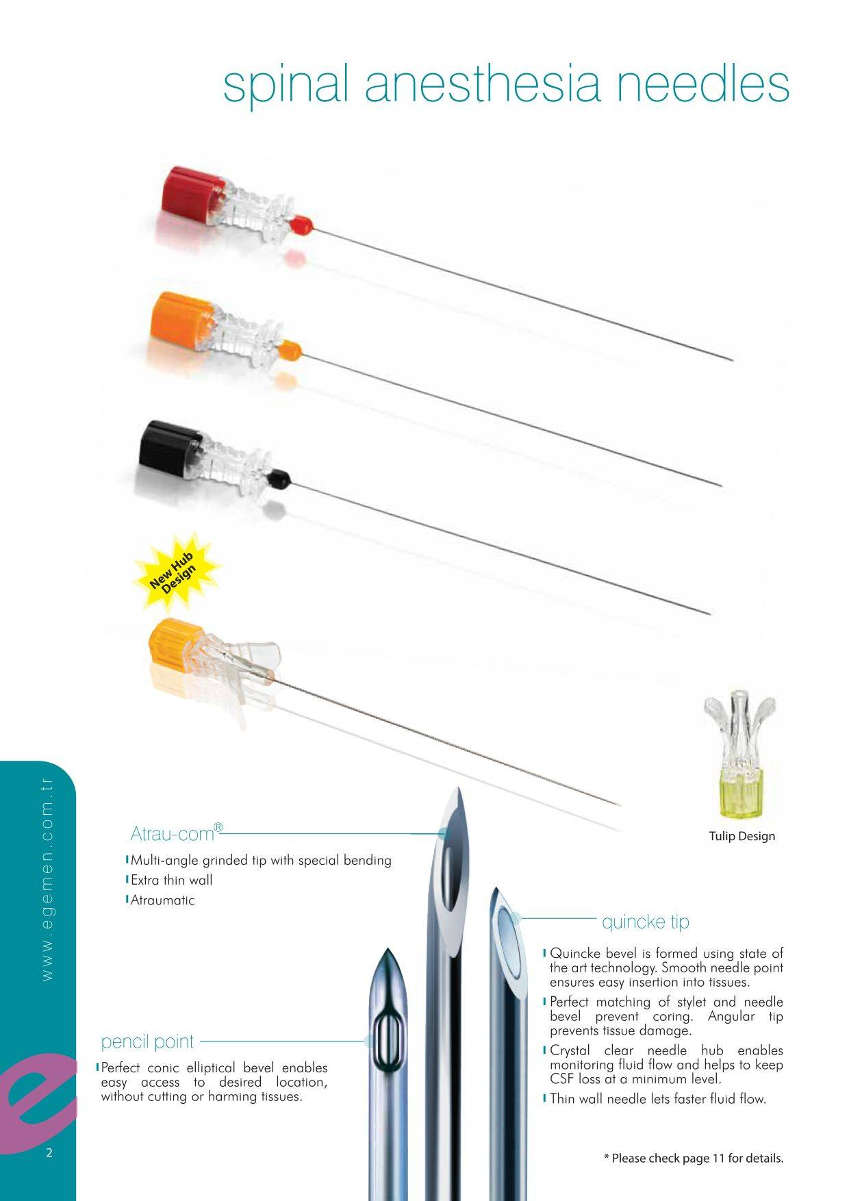 Spinal Anesthesia Needle Quincke