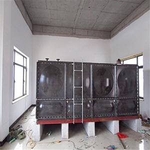 Guangda welded connection enamel strip water tank with low price