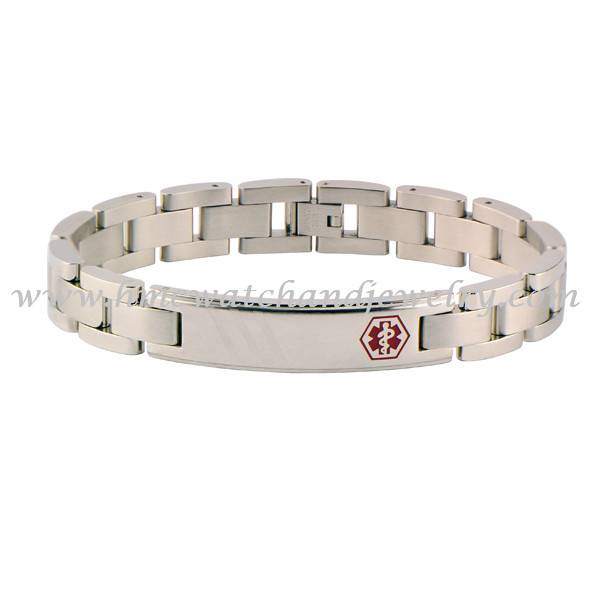 Surgical stainless steel medical alert bracelet jewelry 2015