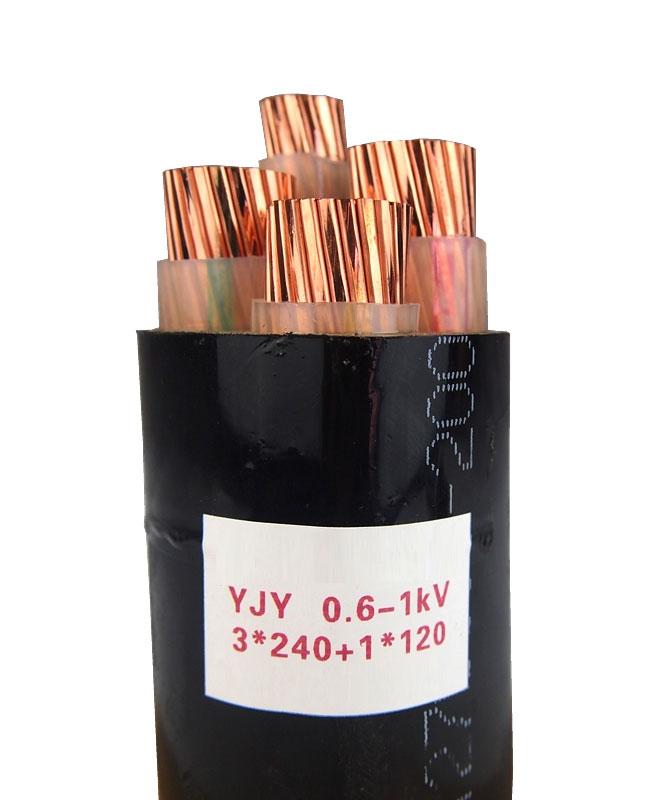 YJY 0.6-1KV 3X240+1X120 Crosslinked polyethylene