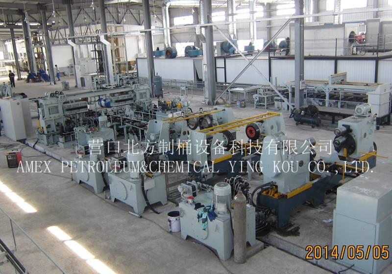 Steel drum barrel making machine manufacturer 55 gallon or steel drum production line 210L