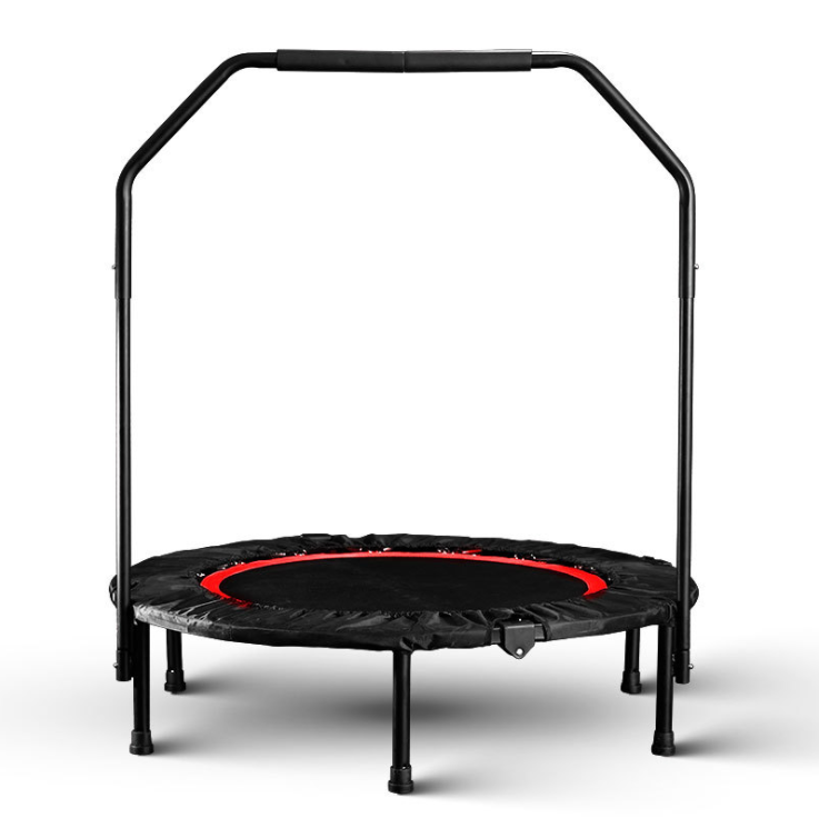 Wholesale Foldable Fitness Gym Trampoline With Bar