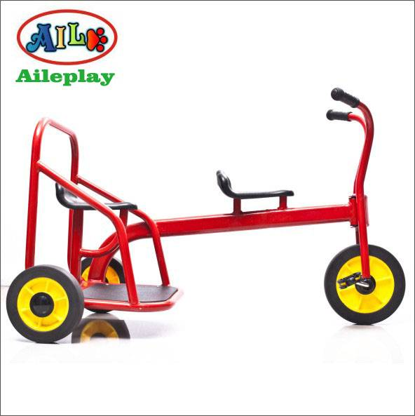 double seats kids tricycle kid pedal tricycle for twins funny tricycle for kid