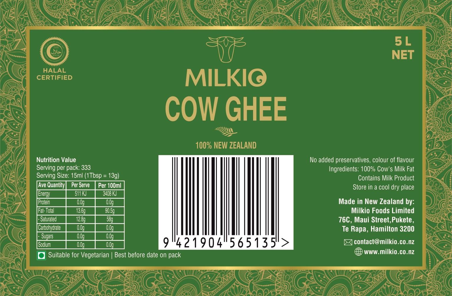 Cow Ghee 5L