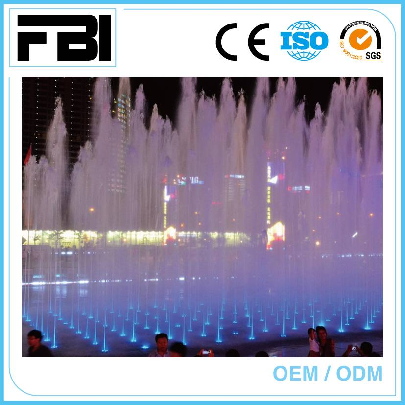 colorful music fountain, entertaining outdoor fountain, customized