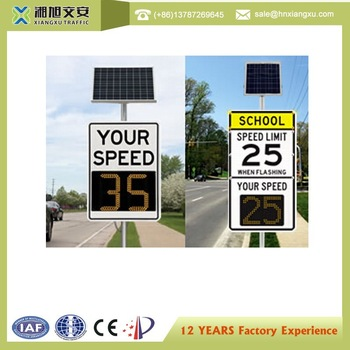 Solar powered Radar Speed Sign with Traffic statistics function