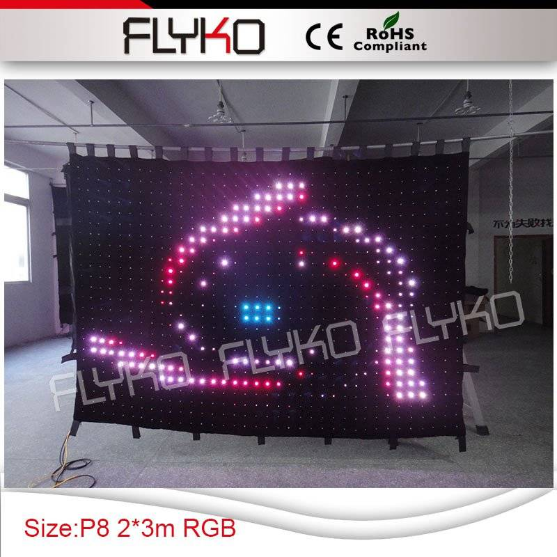 colorful soft led video curtain stage display screen