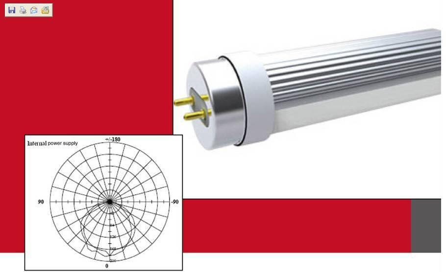 LED T8 Tube - Internal Power Supply, 900mm, 6000K