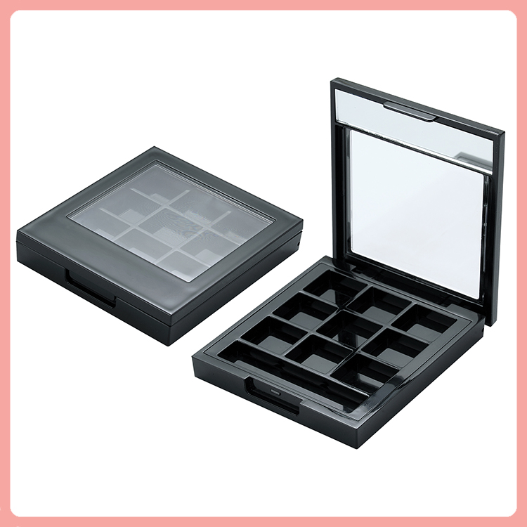 square eyeshadow palette with magnet eye shadow case