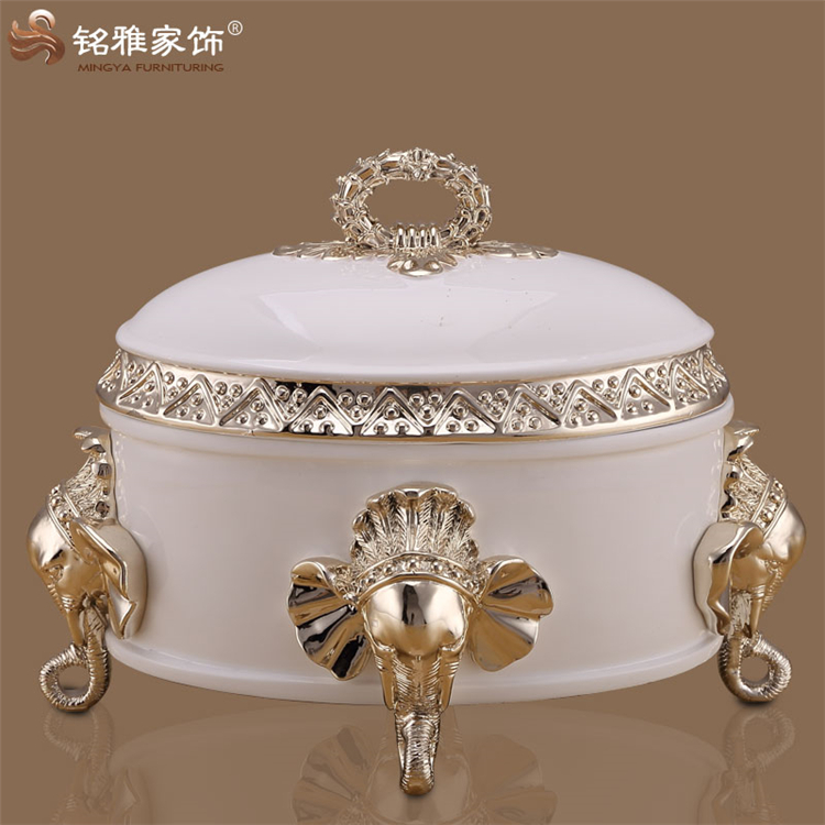 Modern design elephant nose home decoration jewlery box