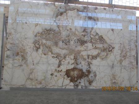 Bookmatch White Onyx Slab