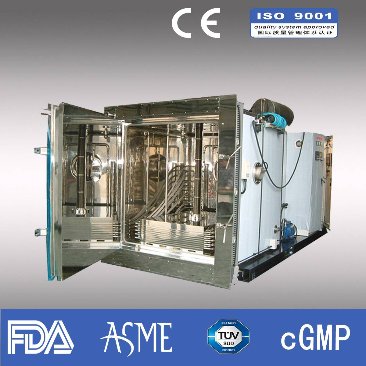 Lyophilizer/ Pharmaceutical freeze dryer/ industrial ;lyophi/Capacity 800kg