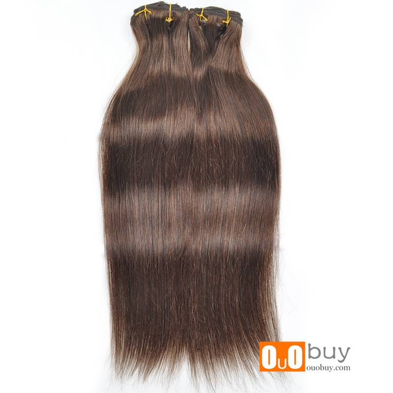 5A100% Luxury Double Drawn Silky Straight Wave Clip-In Hair European Hair Extension