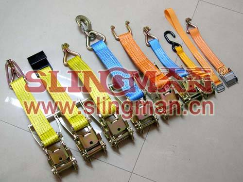 China supplier 50mm 4ton 5ton 7500kg cambuckle ratchet lashing straps tie down web lashing