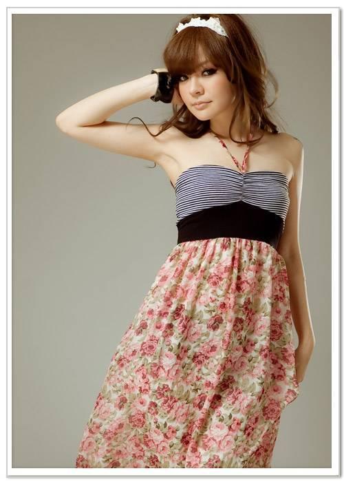 Floral Printed Sleeveless Dress Pink