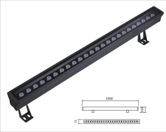 ARY901-24 High Power Wall Washer Light 24W aluminium with glass Taiwan chips