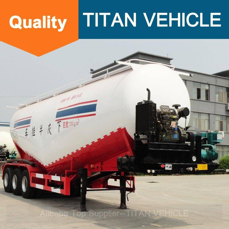 Titan Vehicle trucks for sale V Type Cement Semi Trailer with air compressor