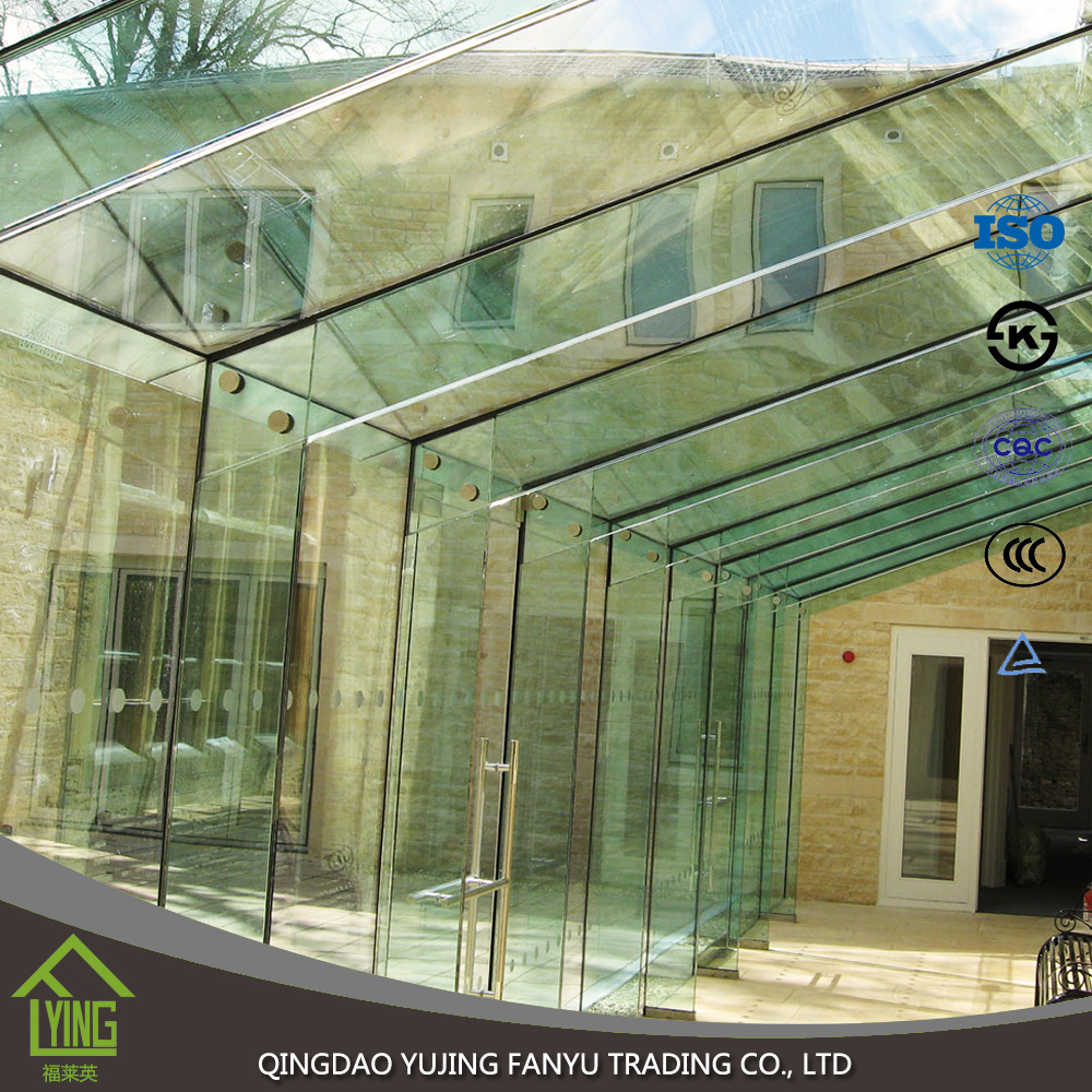 High safe tempered glass for commercial building use