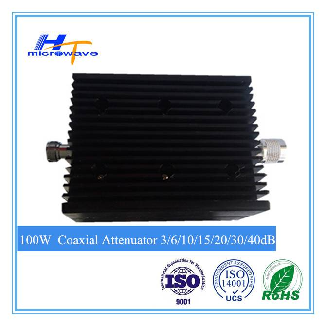 high power low PIM RF fixed Coaxial Attenuator 100W DC-3GHz N-M/N-F connector type