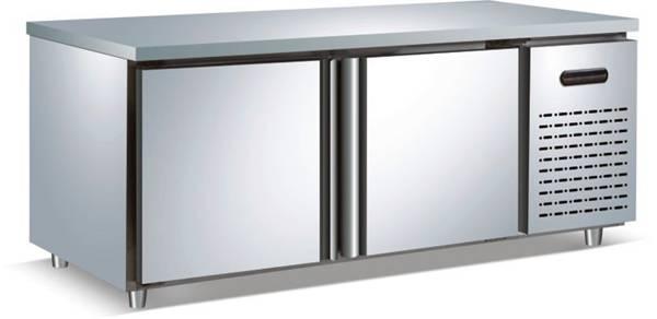(Glass Door)Chest Refrigerator Kitchen Working Bench Refrigerator