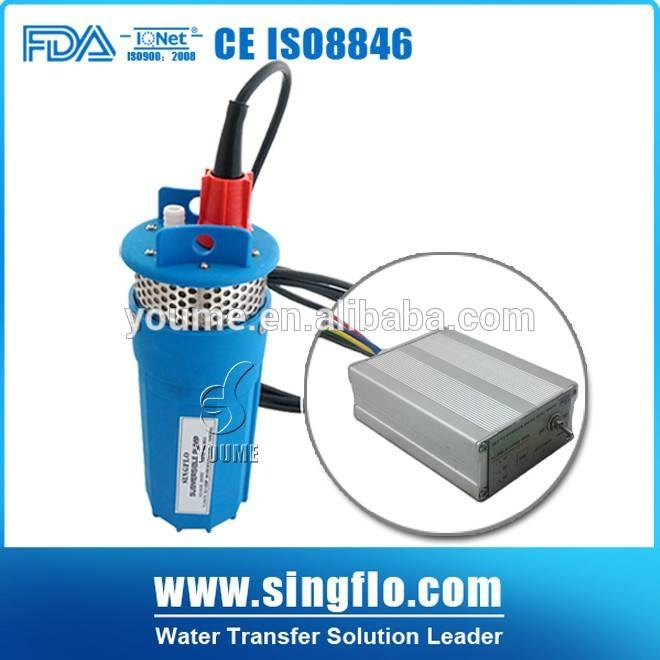 """DC 12v 360LPH 4"""" 230feet mini submersible underground water pump for solar water pump system"""
