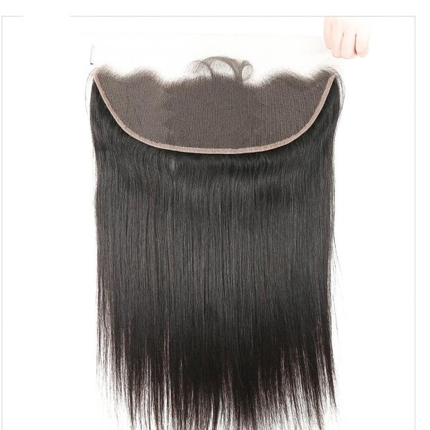 LEDON 13x4 Lace Frontal, Straight ST, Color 1B black, 100% Human Hair Extension