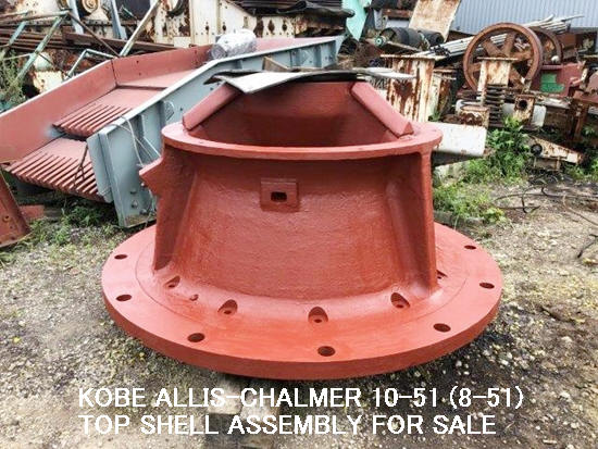 USED KOBE ALLIS-CHALMERS HYDROCONE CRUSHER 10-51 (8-51) TOP SHELL ASSEMBLY.