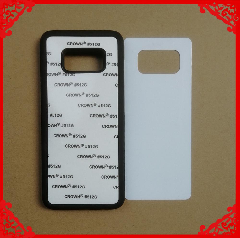 2D sublimation rubber phone case for samsung S8