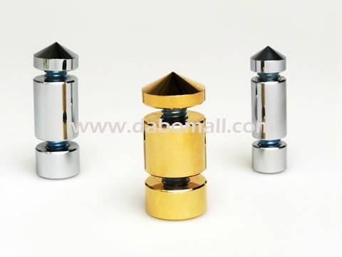Brass standoffs, two plate type for signage, graphic banners