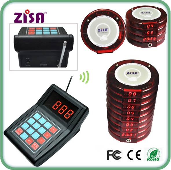 ZISA Fast food Wireless Restaurant Guest paging system , coaster pagers system