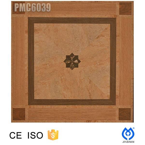 600*600*9.8mm Ink jet 3D print, porcelain glazed floor tile