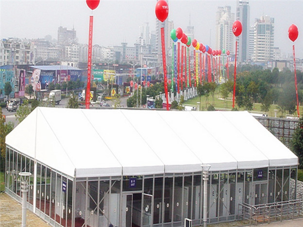 The glass wall tent for holiday tent
