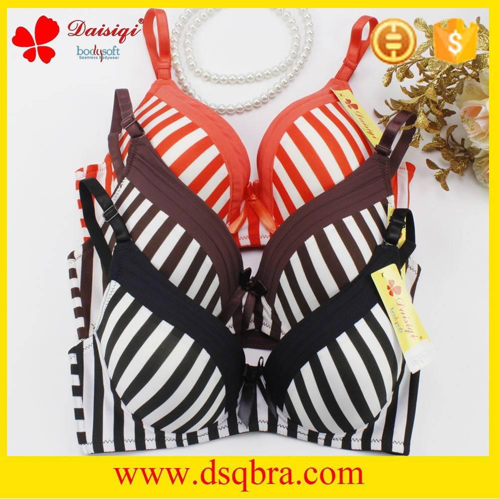 2016 Hot sale Women underwear ladies underwear sexy bra new stripe design