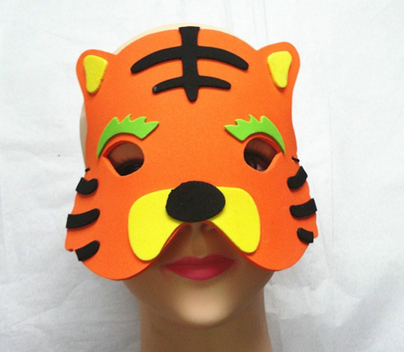 Halloween Christmas Children Cartoon EVA Forest Animal Tiger Mask