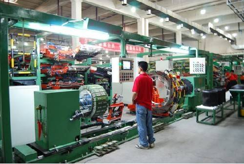 Tire producing line
