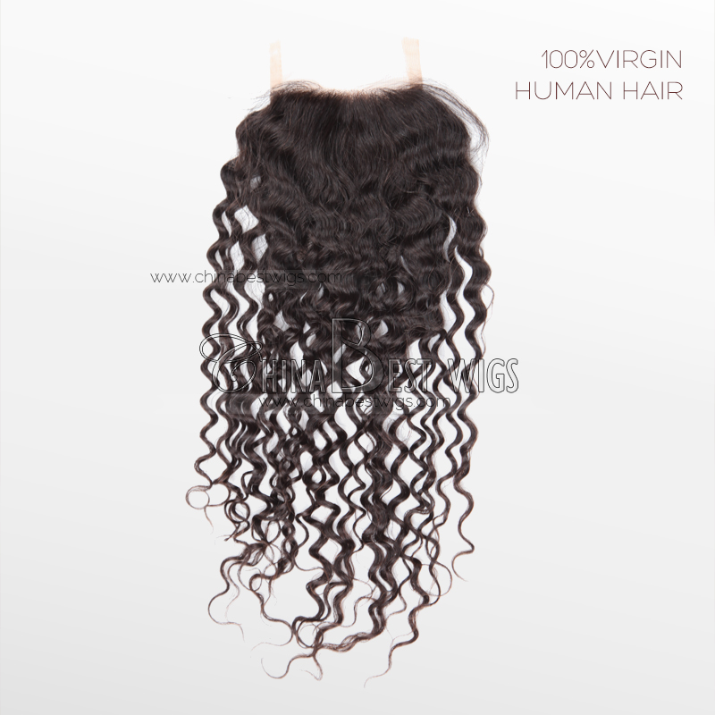 14mm curl virgin human hair closure