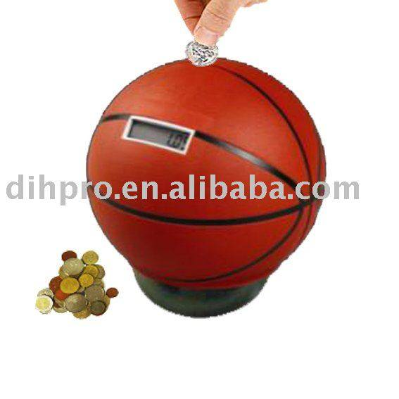 Basketball money saving box