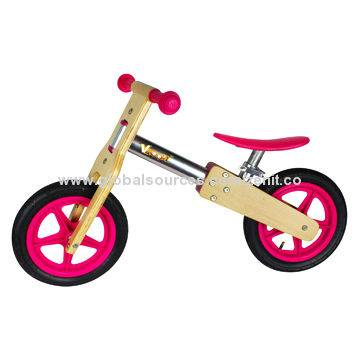 Wooden sports bike-red