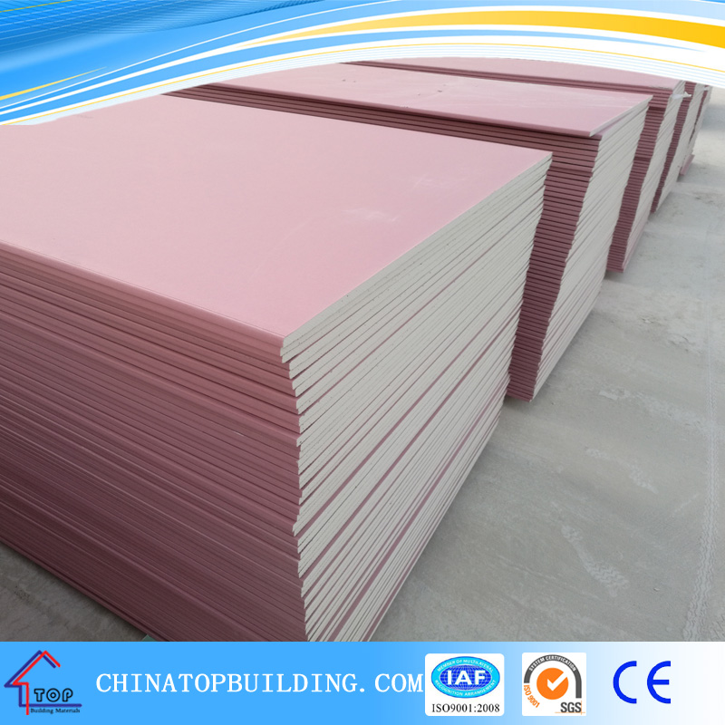 Fire resistant Gypsum Board 4'x8'x12mm