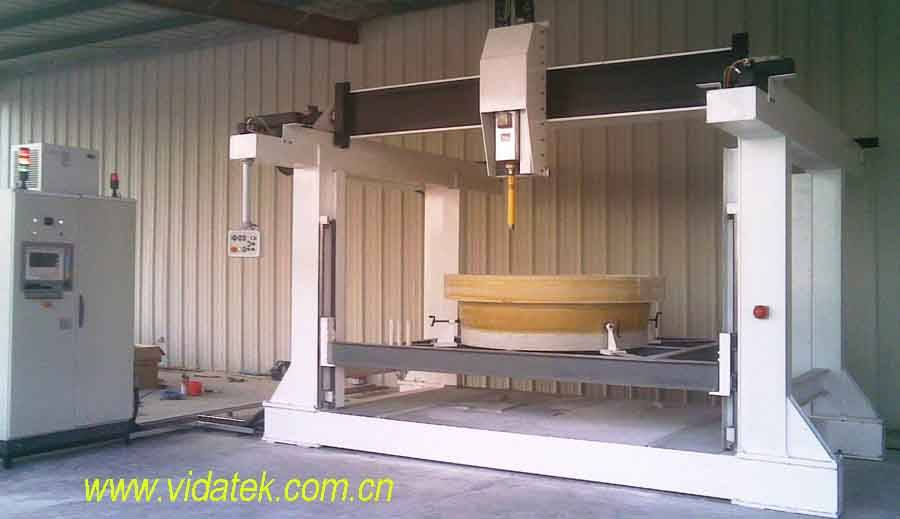 GRP Flange drilling and machining equipment