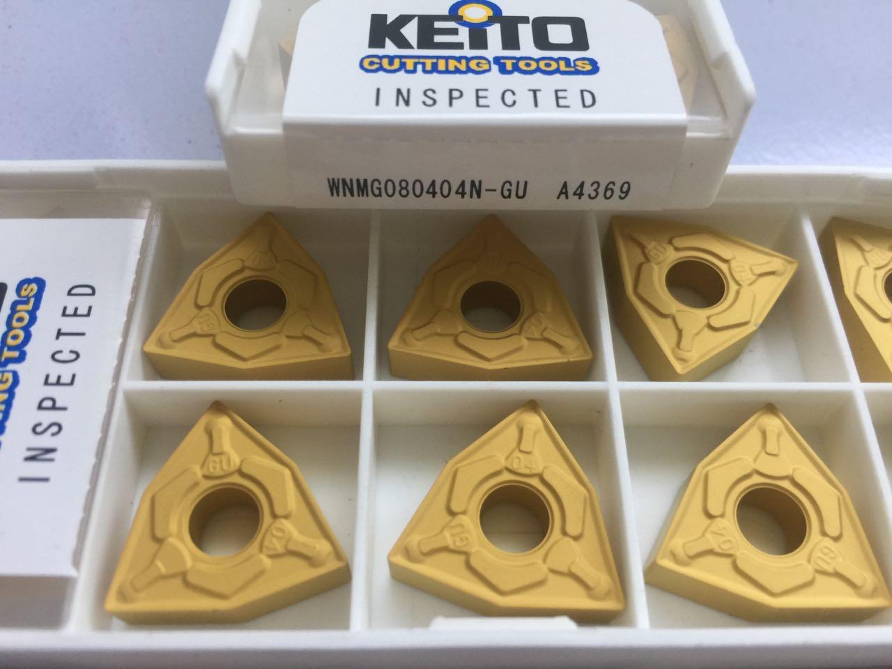 Carbide inserts WNMG080404N-GU