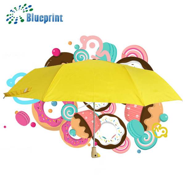 2016 hot promotional items duck handle 3 folding umbrella