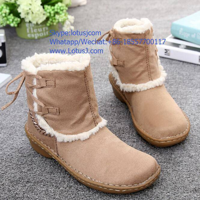 Shoes women boots sneakers warm booties with fur 2016 New Fashion stock