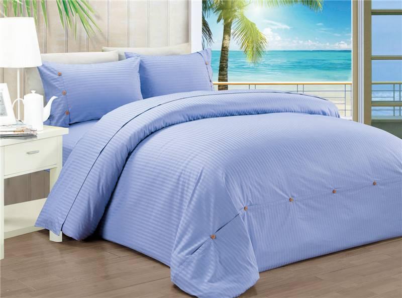 Sateen Stripe Duvet Cover Set Bedding Set