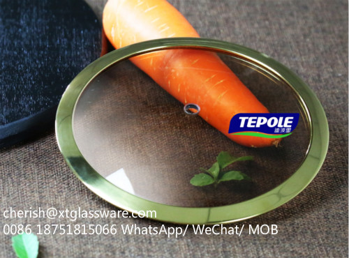 Brown Tempered Glass Lid Factory Pot Lid Pan Lid Cookware Parts
