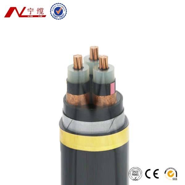 8.7/15KV CU XLPE insulation PVC sheath steel-tape armoured Multi-core cable