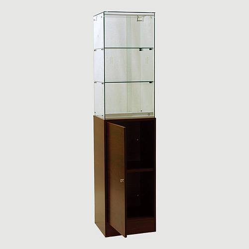 USA shopping mall very popular Frameless Tower Showcase with Storage