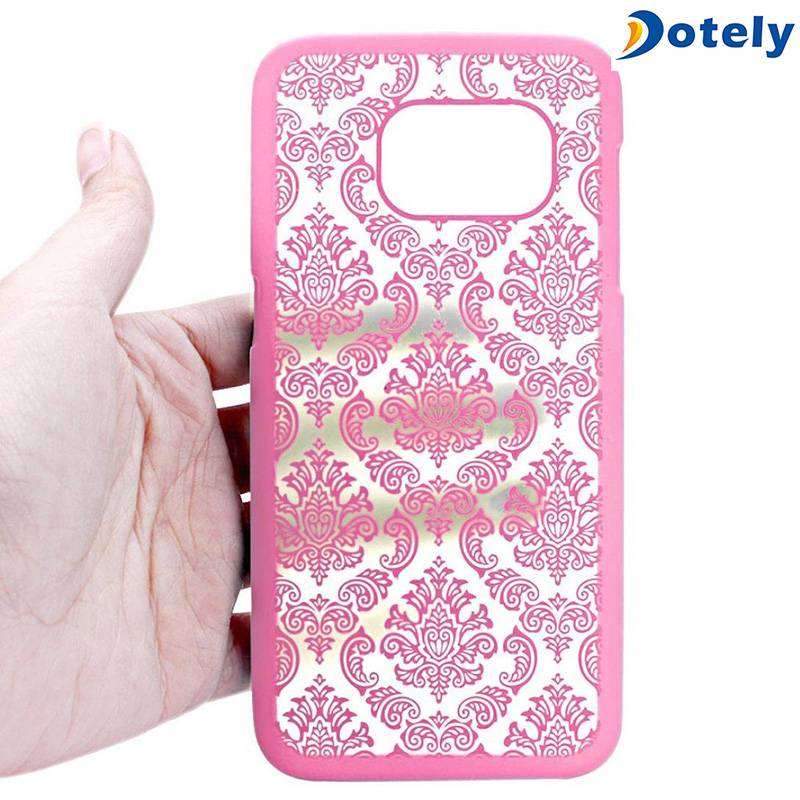 Lace Pattern Texture Hard Plastic Clear Case Cover for Apple iPhone 6s