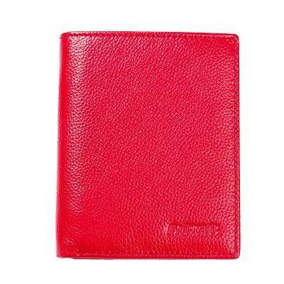Vertical bifold womens rfid wallet shieldedf leather  money clip purse
