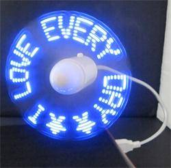 LED Lighting fan for travel and computer